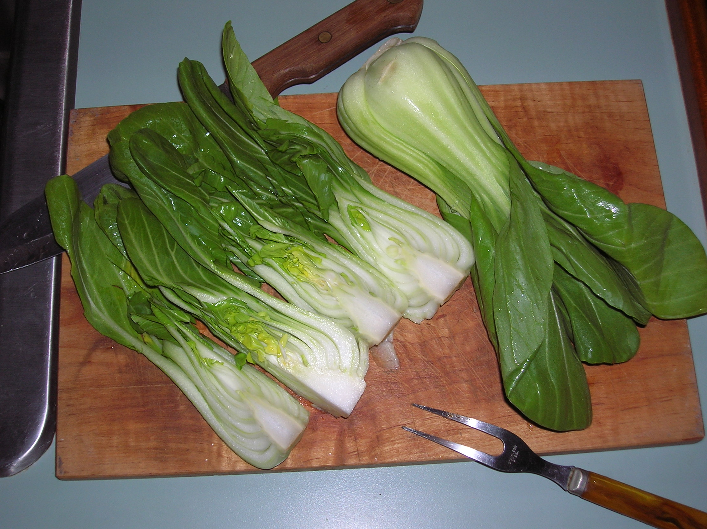 Pak Choi Cooked to Include Baby Pak Choi