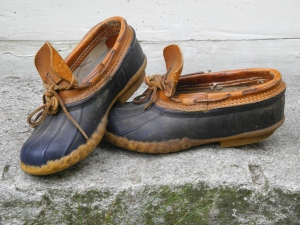 My favorite garden shoes, the L.L. Bean gum shoe